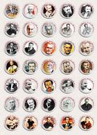 35 X Georges Brassens Music Fan ART BADGE BUTTON PIN SET 2 (1inch/25mm Diameter) - Music