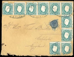 PORTUGAL-CABO VERDE. 1890 (2 Febr) Sao Vicente To England (Feb 17). Envelope Franked D. Luis Fita Direita 10rs Green (x1 - Portugal