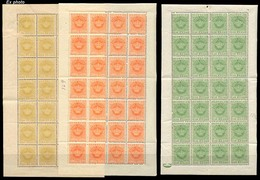 PORTUGAL-CABO VERDE. SF 3**. Perf. 12 1/2 (x56), 9** (p. 12 1/2) (x28), 10** (p. 13 1/2) (x28). Crown Issue. 4 Complete - Portugal