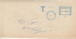 Napoli. 1958. Annullo Meccanico Azzurro SERVIZIO TASSATE *NAPOLI A.D.* L. 25, Su Lettera - 1946-60: Marcofilia