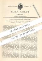 Original Patent - Julius Boeddinghaus , Düsseldorf  1881 , Übertragung Variabler Kraft | Kraftmaschine , Motor , Motoren - Historische Dokumente