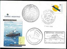 AANT-180 ARGENTINA 1996 ANTARCTICA ANTARCTIQUE JUBANY STATION COVER - Bases Antarctiques