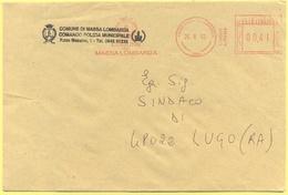 ITALIA - ITALY - ITALIE - 2002 - 00,41 EMA, Red Cancel - Comune Di Massa Lombarda - Viaggiata Da Massa Lombarda Per Lugo - Affrancature Meccaniche Rosse (EMA)