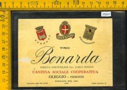 Etichetta Vino Liquore Bonarda - Oleggio Piemonte - Other