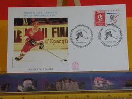 Jeux Olympiques D'Hiver (Hockey) - 73 Méribel Les Allues - 9.2.1991 FDC 1er Jour N°1720 - Coté 2,50€ - FDC