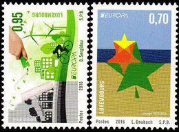 CEPT / Europa 2016 Luxembourg N° 2034 Et 2035 ** Think Green - Ecologie, Vélo - Europa-CEPT