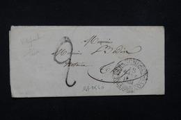 FRANCE - Lettre De Villefranche Sur Saône Pour Thizy - L 22661 - 1801-1848: Precursors XIX