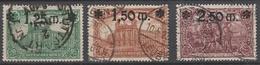 Deutsches Reich    .     Michel       .   116/118     .       O        .      Gebraucht - Allemagne