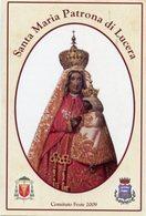 Lucera (Foggia) - Santino SANTA MARIA (Olio Su Tela Del 1882) Comitato Feste Patronali 2009 - PERFETTO P90 - Religione & Esoterismo