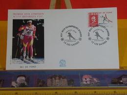 Jeux Olympiques D'Hiver (Ski De Fond) - 73 Les Saisies - 2.2.1991 FDC 1er Jour N°1719 - Coté 2,50€ - FDC
