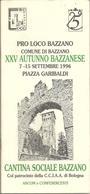 Bazzano, 7/15.9.1996, 25° Autunno Bazzanese, 40 Pp. - Autres