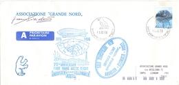 AIR MAIL   NORGE  HORNSUND  1996 N 70° FLIGTH TRANSPOLARE    (FEB190019) - Storia Postale