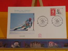 Jeux Olympiques D'Hiver (Slalom) - 73 Les Menuires - 19.1.1991 FDC 1er Jour N°1718 - Coté 2,50€ - FDC