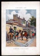 Chromo Au Bon Marche, M1, Tableaux Celebres, 250 X 180mm,  E. Detaille, Billet De Logement, Militaria - Au Bon Marché