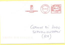 ITALIA - ITALY - ITALIE - 2002 - 00,41 EMA, Red Cancel - Comune Di Bibbiena - Viaggiata Da Bibbiena Per Lugo - Affrancature Meccaniche Rosse (EMA)
