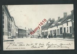 POMMEROEUL. (Bernissart) Grand'rue . Très Animée. Voyagée En 1905. 2 Scans - Bernissart