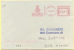 ITALIA - ITALY - ITALIE - 2002 - 00,41 EMA, Red Cancel - Città Di Imola - Viaggiata Da Imola Per Lugo - Affrancature Meccaniche Rosse (EMA)