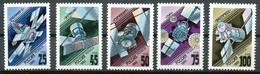 RUSSLAND - Mi.Nr.   301 - 305  Postfrisch     Nachrichtensatelliten. - 1992-.... Föderation