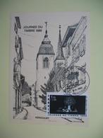 Carte  - Journée Du Timbre  1980  Héricourt - Covers & Documents