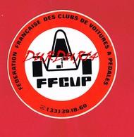 1 Autocollant Fédération Française Des Clubs De Voitures à Pédales - Autocollants