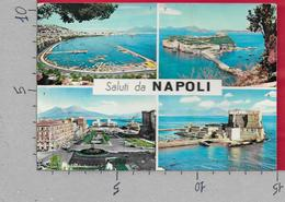 CARTOLINA VG ITALIA - Saluti Da NAPOLI - Vedutine Multivue - 10 X 15 - ANN. 1965 - Saluti Da.../ Gruss Aus...