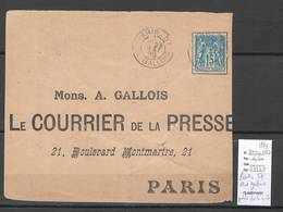 France  Cachet Paris Bureau 57 - Rue Gallois - 1899 - Marcophilie (Lettres)