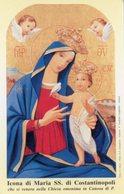 Canosa Di Puglia (Foggia) - Santino ICONA DI MARIA SS. DI COSTANTINOPOLI - PERFETTO P90 - Religione & Esoterismo