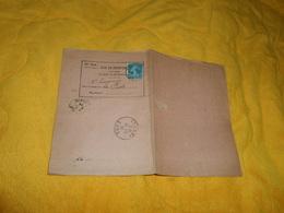 UN AVIS DE RECEPTION D'UN OBJET CHARGE OU RECOMMANDE.../ CACHET TOURNY + TIMBRE... - 1921-1960: Période Moderne