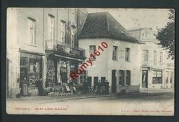 PERUWELZ. Grand Bazar Parisien . Belle Carte Très Animée.   1905. Scan Recto /verso. - Péruwelz