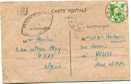 ALGERIE CARTE POSTALE CENSUREE DEPART ORAN R. P.  22-9-44 ORAN POUR LA FRANCE - Algérie (1924-1962)