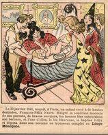 CHROMO LINGE MONOPOLE MAXIME FAIVRET PARIS  LE 30 JANVIER 1841 NAQUIT A PARIS... - Cromos