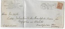 USA - 1903 - ENVELOPPE De WASHINGTON Avec MECA DRAPEAU STATION C => FRANKFURT (GERMANY) - Cartas