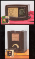 Moldova 2019 Vintage Radio Devices Philips Telefunken 2 Maxicards Special Postmark - Moldova