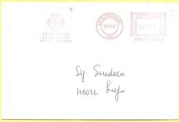 ITALIA - ITALY - ITALIE - 2002 - 000,41 EMA, Red Cancel - Comune Di Fusignano - Viaggiata Da Fusignano Per Lugo - Affrancature Meccaniche Rosse (EMA)