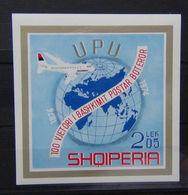 ALBANIA 1974, 100 Years UPU S/s  Mi. B52   Serie Cpl. 1 BF Nuovo** - Albania