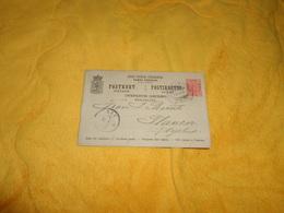 CARTE POSTALE ANCIENNE DE FINLANDE ANNEE 1895..CACHETS + TIMBRE ENTIER A ETUDIER.. - Finlande