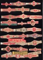 Lot De 30 Bagues Différentes De Cigare  à Identifier - Cigar Bands