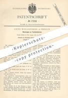 Original Patent - Otto Wollenberg , Berlin , 1881 , Taschenlaterne | Laterne | Lampe , Laternen , Taschenlampe !!! - Historische Dokumente