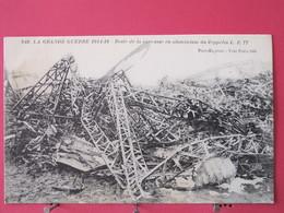 55 - Grande Guerre 1914-16 - Reste De La Carcasse En Aluminium Du Zeppelin LZ77- Scans Recto Verso - Revigny Sur Ornain