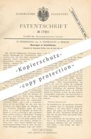 Original Patent - H. & A. Dohrmann , Berlin , 1881 , Ausziehtisch | Tische , Tische , Tischler , Möbel , Holztisch !!! - Historische Dokumente