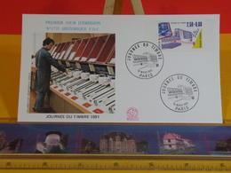 Journée Du Timbre 1991 - Paris - 16.3.1991 FDC 1er Jour N°1731 - Coté 3€ - FDC