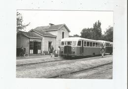 AUTORAIL DE DION BOUTON M 11 TYPE PC DE 1939 EN GARE D'ANDERNOS (GIRONDE) LE 30 AOUT 1958 LIGNE LESPARRE-FACTURE - Andernos-les-Bains