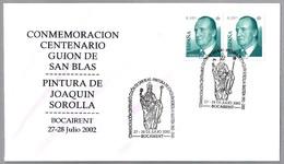 Guion De San Blas. Pintura De JOAQUIN SOROLLA. Bocairent, Valencia, 2002 - Arte