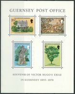 GUERNSEY 1975, Victor Hugo S/s  Mi. B1   Serie Cpl. 1 BF Nuovo** - Guernesey