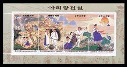 North Korea 2002 Mih. 4554/57 (Bl.525) Legend Arirang MNH ** - Korea, North