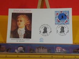 La Mort De Mozart - Paris - 9.4.1991 FDC 1er Jour N°1734 - Coté 3,20€ - FDC