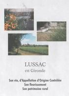 LUSSAC GIRONDE - VIN VIGNES, FLEURS, PATRIMOINE - CACHETS POSTAUX DU VILLAGE 2008, PAP ENTIER POSTAL, VOIR LES SCANNERS - Vacances & Tourisme