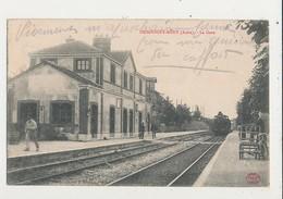 MESGRIGNY MERY LAGARE AVEC TRAIN CPA BON ETAT - Stations With Trains