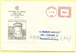 ITALIA - ITALY - ITALIE - 2002 - 00,41 EMA, Red Cancel - Comune Di Dozza - Viaggiata Da Dozza Per Lugo - Affrancature Meccaniche Rosse (EMA)