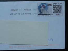 Film Stars Wars Cinema Timbre En Ligne Sur Lettre (e-stamp On Cover) TPP 3926 - Kino